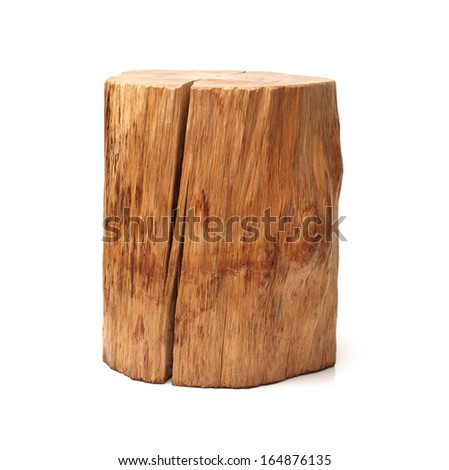 log isolated on a white background  - stock photo
