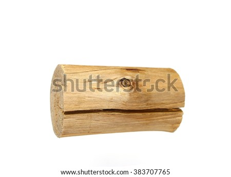log isolated on a white background ,clipping path included - stock photo