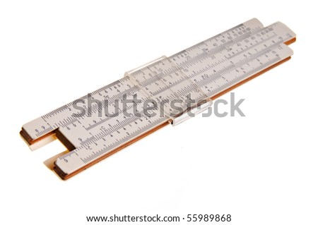 Logarithmic ruler on a white background