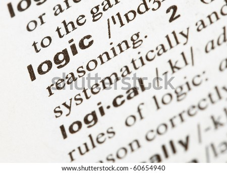 logic word - stock photo