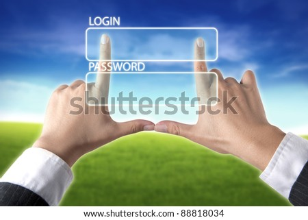 login - stock photo