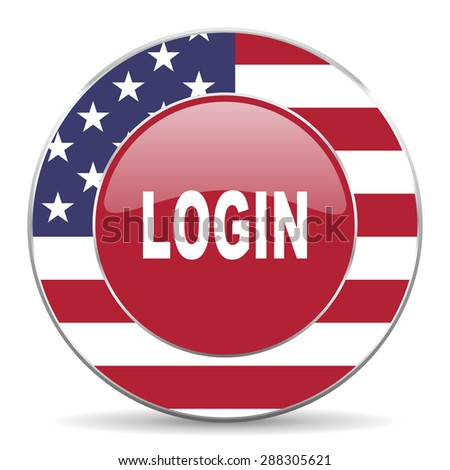 login american icon original modern design for web and mobile app on white background  - stock photo
