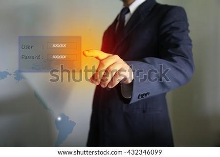 login and password - stock photo