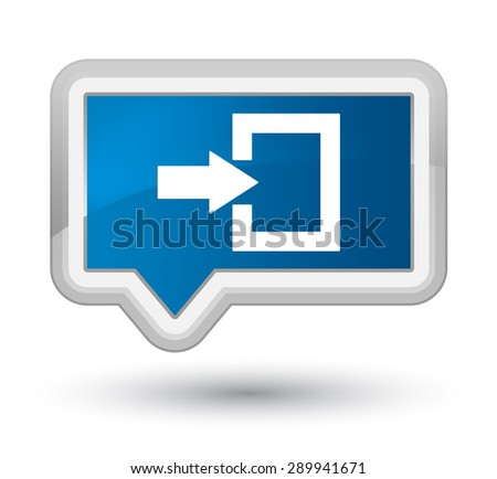 Login icon blue banner button - stock photo