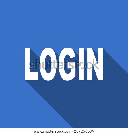 login modern flat icon with long shadow  - stock photo