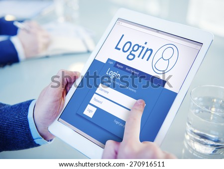 Login Registration Membership User Register Join Subscribe Concept - stock photo
