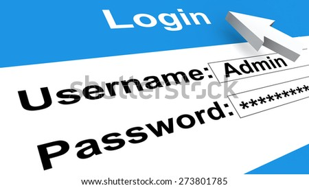 login screen, username password - computer technology - stock photo