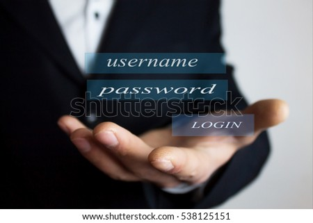 Login.Username and Password.Business concept