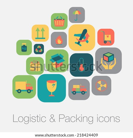 Logistic and packing icon - stock photo