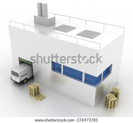 Logistics concept, original three dimensional models. - stock photo