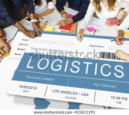 Logistics Delivery Cargo Freight Shipment Concept - stock photo