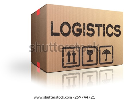 logistics freight transportation international and global trade import and export cardboard box