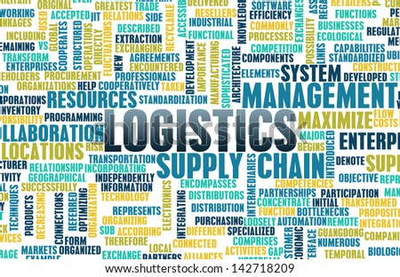 Logistics in SCM and DCM Business Concept