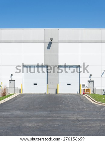 Logistics warehouse entrance - stock photo