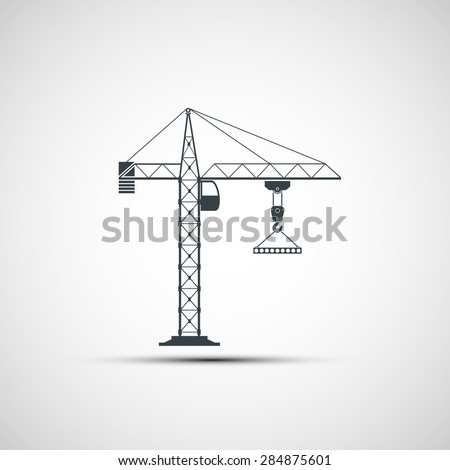 logo construction crane. - stock photo