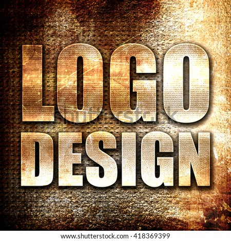 logo design, rust writing on a grunge background