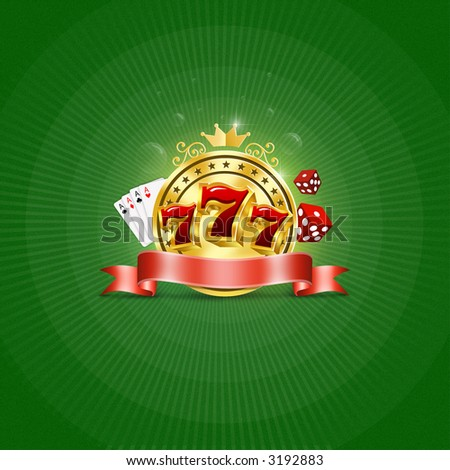 Logo for  casino - stock photo