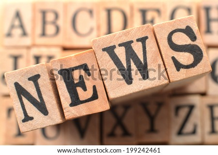 Logo for NEWS - stock photo