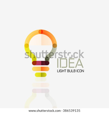 Logo, light bulb abstract linear geometric business icon. Idea concept - stock photo