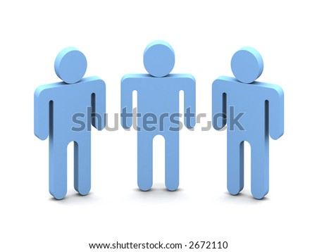 Logotype -Three Mens over white background