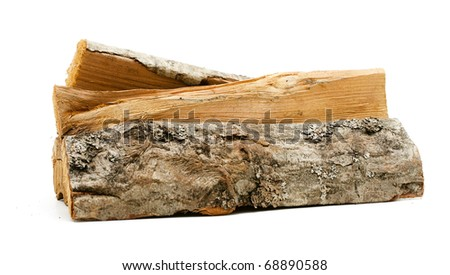 logs, fire wood - stock photo