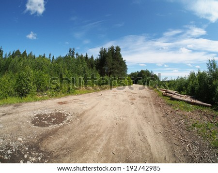 logs off road - stock photo