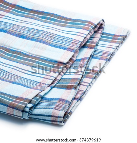 Loincloth fabric on white background, Thai style.
