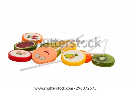 lollipop on a white background - stock photo