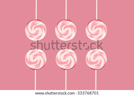 Lollipop - pink on pink - stock photo
