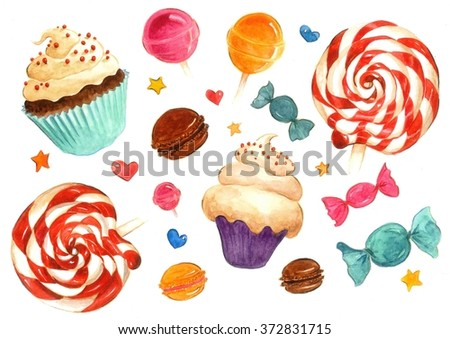 Lollipops and sweets pattern
