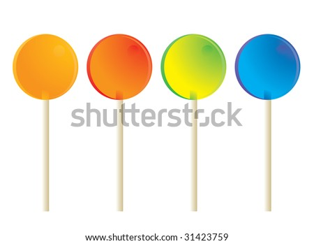 Lollipops isolated - jpg version - stock photo