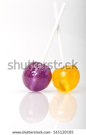 lollipops with reflection - stock photo