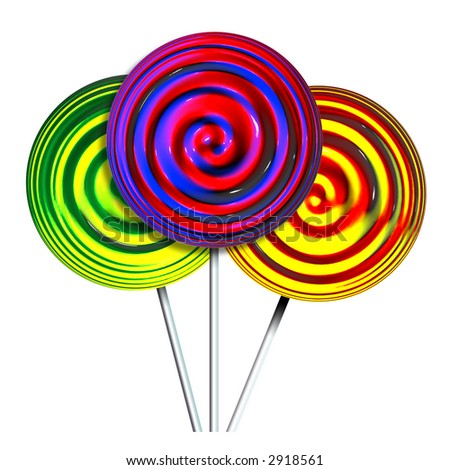 lollypops - stock photo