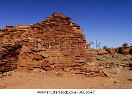 Lomaki Indian Ruins - stock photo