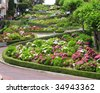 lombard street at san francisco - stock photo