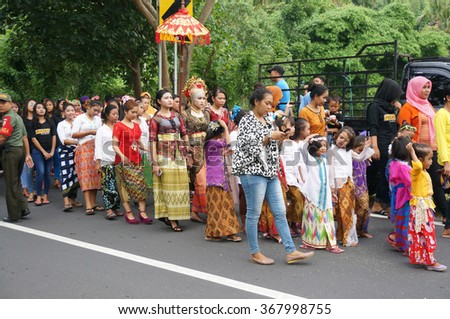 LOMBOK, INDONESIA - January 27, 2016: Traditional wedding of Sasak tribe. Sasak are the famous tribe in Lombok, Indonesia