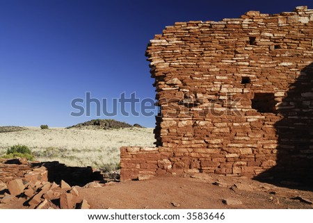 Lomoki Pueblo Ruins - stock photo