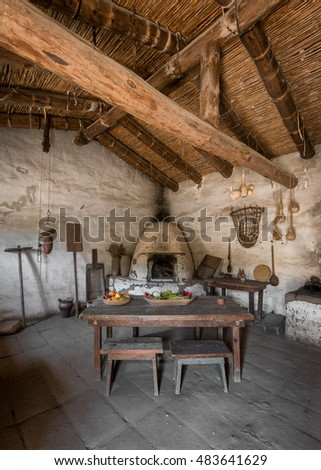 LOMPOC, CALIFORNIA - JULY 30: Community kitchen at the La Purisima Mission on July 30, 2016 in Lompoc, California