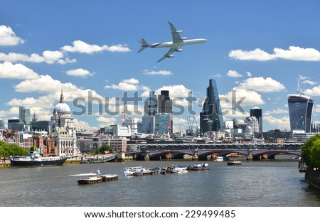 London across the Thames - stock photo