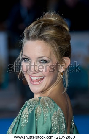 LONDON -  10 APRIL: Kate Hudson at the European Premiere of 'Fool's Gold'. Held at the Vue cinema, Leicester Square, London, 10 April 2008. - stock photo