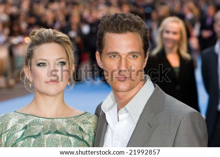 LONDON -  10 APRIL:  Kate Hudson & Matthew McConaughey at the European Premiere of 'Fool's Gold'. Held at the Vue cinema, Leicester Square, London, 10 April 2008. - stock photo