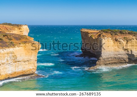 London Arch at Port Campbell National Park on the great ocean road in Victoria, Australia - stock photo