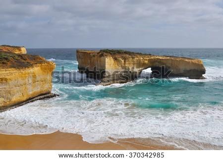 London Arch in Great Ocean Road, Victoria, Australia - stock photo