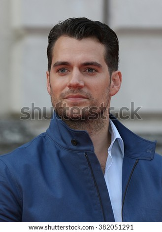 LONDON - AUG  7, 2015: Henry Cavill attends The Man from U.N.C.L.E. UK film premiere at Somerset House on Aug 7, 2015 in London - stock photo