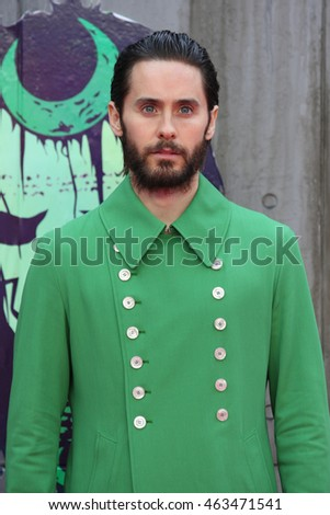 LONDON - AUG 03, 2016: Jared Leto attends the Suicide Squad film premiere on Aug 03, 2016 in London