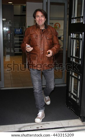 LONDON - AUG 28, 2014: Jonathan Ross seen at the BBC studios on Aug 28, 2014 in London