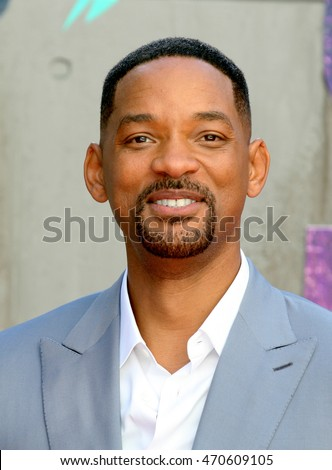 LONDON - AUG 03, 2016: Will Smith attends the Suicide Squad film premiere on Aug 03, 2016 in London