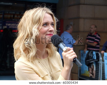LONDON - AUGUST 19: Edith Bowman at Going The Distance August 19th, 2010 in Leicester Square London, England.