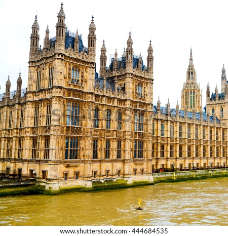 london   big ben and historical old construction england   city - stock photo