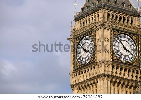 london, big ben clock at the westminster city - stock photo